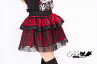 Princess Sweet Lolita Skirt PUNK Wind Web Lace Red And Black Little Cake Peng Skirt Pumpkin