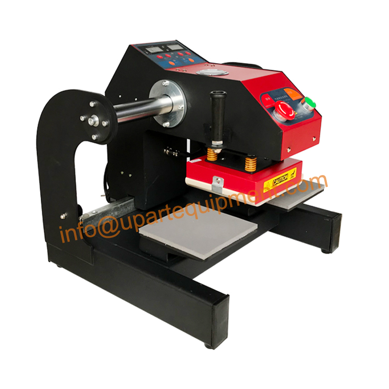 15x15 centímetros Up-slide pneumática rótulo máquina da imprensa do calor