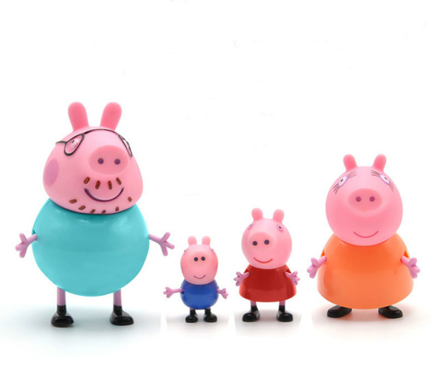 Peppa pig George guinea pig Family Pack Dad Mom Action Figure Original Pelucia Anime Toys For Kids children Christmas Gift