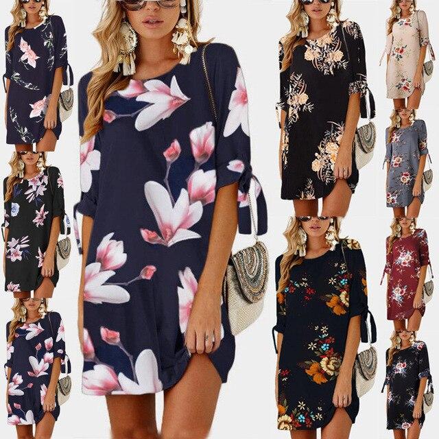 Summer Blue Pearl Chiffon Dress 2