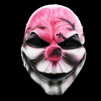 High Quality Payday Masks Hoxton Cosplay Grimace Devil Resin New Halloween Horror Masks Chainsaw Clown Payday 2 Masquerade Masks