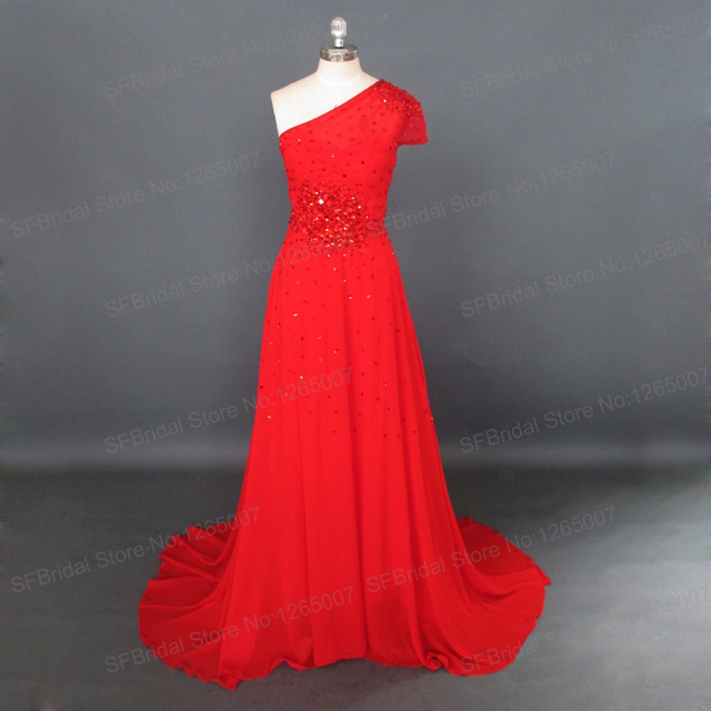 Inspired By Miranda Kerr Evening Dresses Short Sleeve Red Sparkly