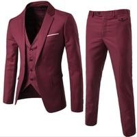 2019 Mens Suits 3 pieces Fashion 9 Colors Groom Wedding Suits for Men Slim Formal Male suit Business plus size 5XL Suits Black