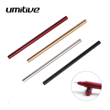 Umitive 1 Pcs 0.5 mm Black Red Ink Simulation Metal Gel Pens  For Kids Gift Office And School Supplies Student Stationery Pen
