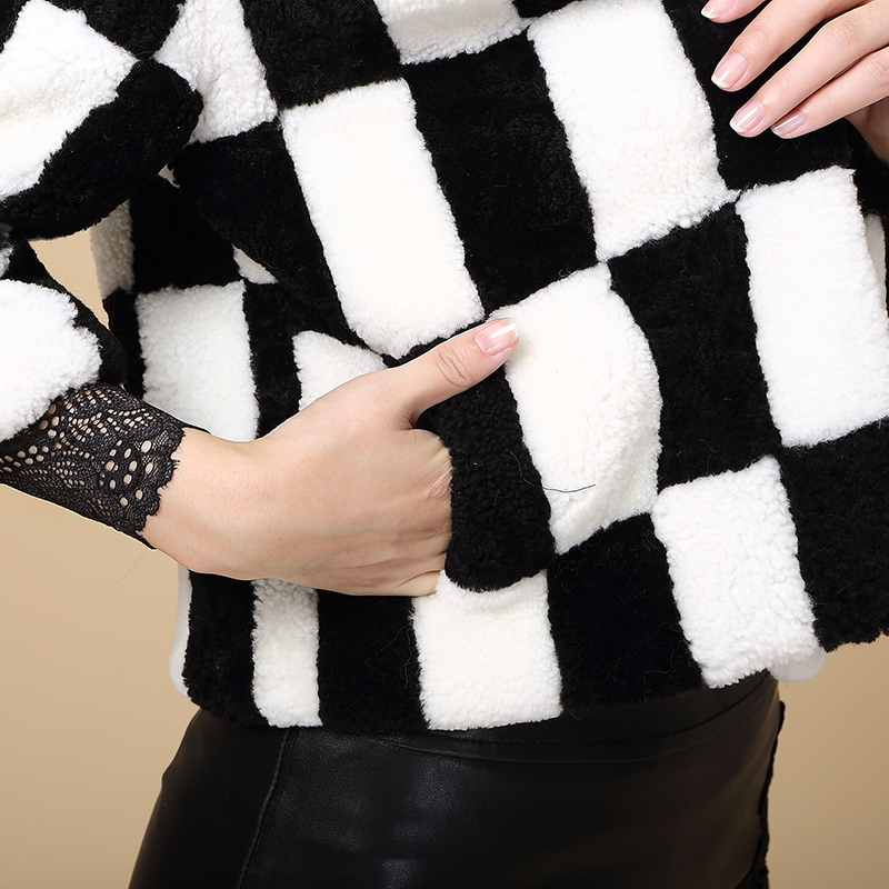 Berbère De coût Longue Fourrure Manteau 2015 Marketing Mouton Blanc Section En Et Noir Peau Polaire Bas Femmes 7UtZBnRq7