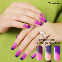 Verntion 8ml Thermo Mood Change the Colors Lucky UV Gel Nail Polish Temperature Changing Color LED UV Soak Off Gel Polish