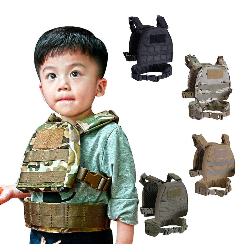 Mini gilet tactique pour enfants avec ceinture de chargement de patrouille gilet de Combat Molle XS/S CP Camouflage Airsoft JPC gilet de poitrine Camo