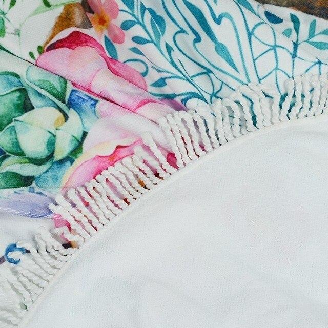XC USHIO Dream Catcher Round Beach Towel With Tassels 450g Soft Microfiber 150cm Summer Swimming Picnic Blanket Wall Tapestry 4