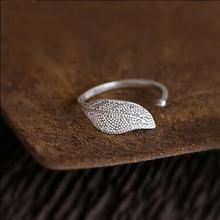 Женское кольцо с листьями корейское ювелирное изделие из стерлингового