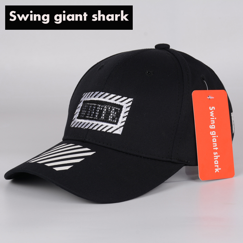 swing giant font shark fashion unisex baseball hat women hip paul and cap fin