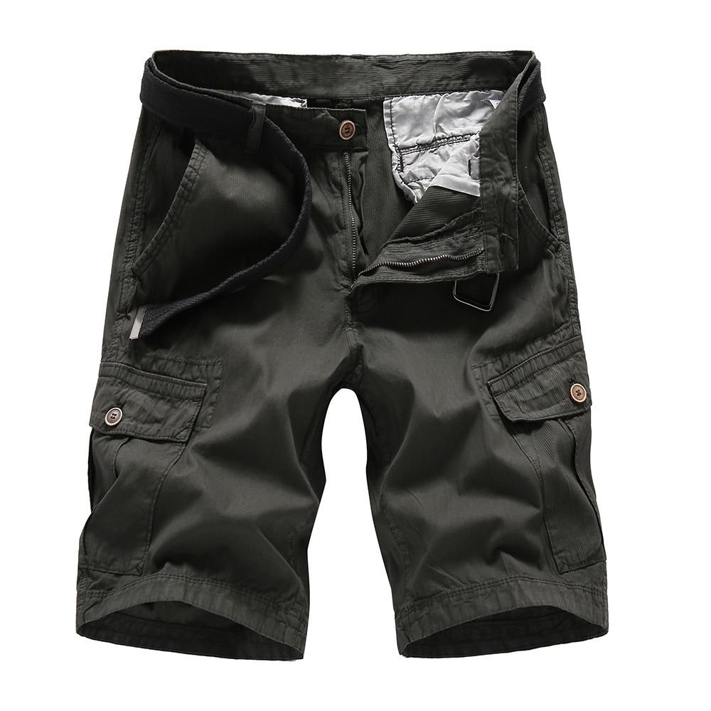 BOLUBAO 2018 New Autumn Men Cargo Shorts Casual Loose Short Pants Solid Military Summer Style Knee Length Shorts Men