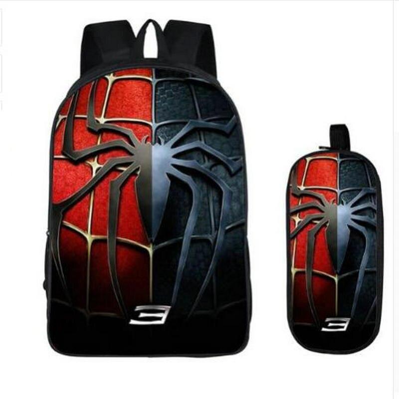 16 Inch Kids Backpack Spideran Into The Spider-Verse Children School Bags For Boys Orthopedic Child BookBag Knapsack Mochila