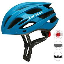 Sepeda Gunung Bersepeda Helm Belakang Di Dibentuk Memperkuat Nyaman Bernapas Helm Sepeda dengan Lampu Latar Safety Cap