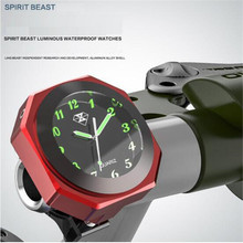 SPIRIT BEAST Motocross Table Clock Parts Scooter Decorative Hour Bell Waterproof Electronic Bell Car Clocks Wwatches Sports Watc