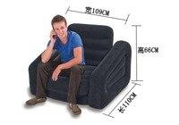 Большой негабаритных воздушный надувные кресло мешок, 109*218*66 см чистый черный складной диван и кровати