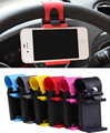 Universal del volante del coche soporte para teléfono móvil soporte para iphone 4 4s 5 6 6 s samsung galaxy s4 s5 s6 note 3 4 mp4 pda gps