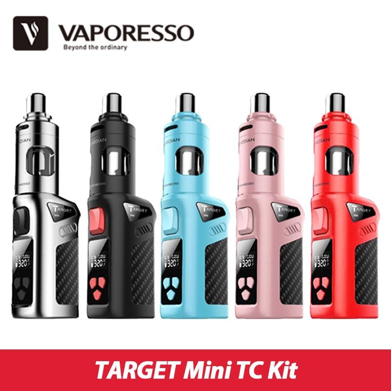 Prix pour 100% D'origine Vaporesso CIBLE Mini TC Electronic Cigarette Kit 40 W VW/VT (Ni, SS, Ti) 1400 mAH Batterie Mod et 2.0 ml Tuteur Réservoir