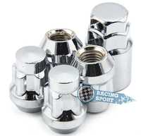 Set Car Anti theft Nuts 1/2 20 Wheel Lock Nuts Silver Car Alloy Nuts for Dodge,Etype, Jeep New Arrival 4PCS