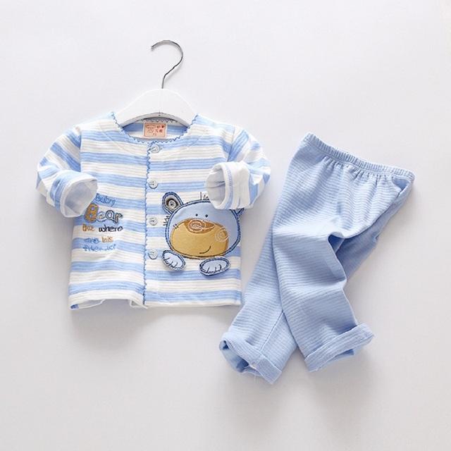 2016 niños de la marca niños ropa interior bebé girls clothing set niños deportes traje de algodón 100% bebé ropa casual coat + pants para 0-18month