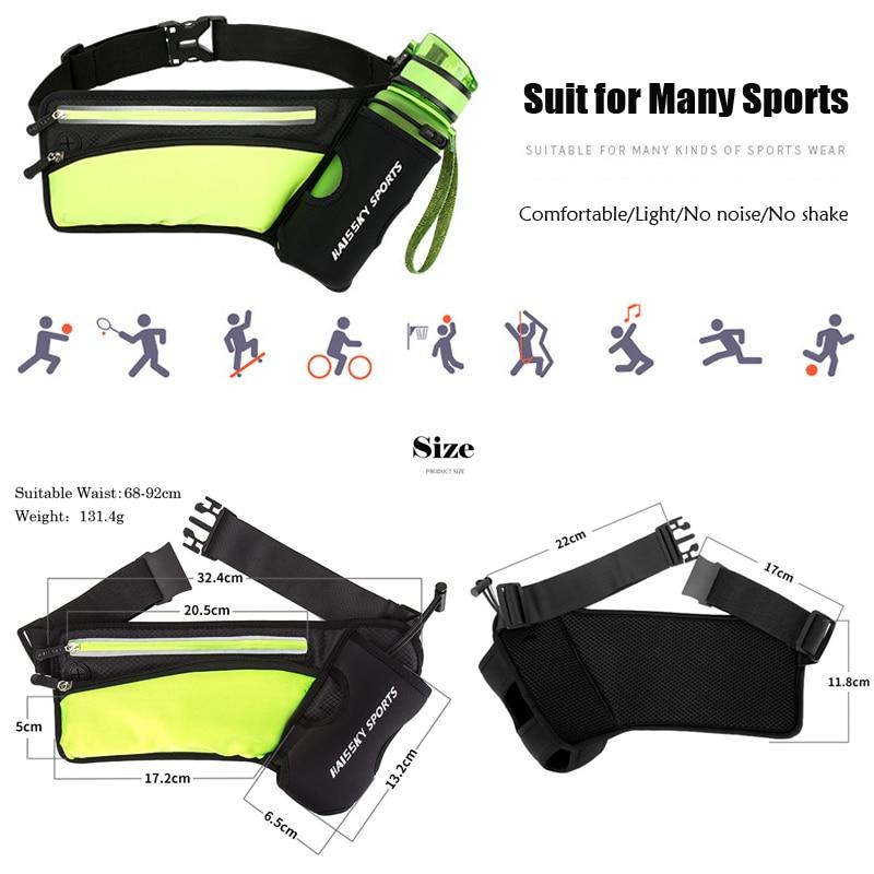 running - Running Marathon Waist Bag Sports Climbing Hiking Racing Gym Fitness Lightweight Hydration Belt Water Bottle Hip Waist Pack
