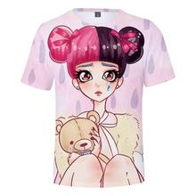 LUCKYFRIDAYF Kpop CRY BABY print 3D Fashion Print  Short Sleeve T-Shirt Women Top Summer Femele Cotton Clothes