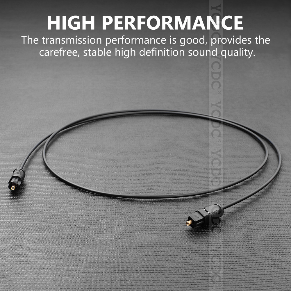 1M - 10M SPDIF Optical Cable Digital Fiber Optic Cable Audio TosLink Cables Male to Male MD DVD Gold Plated