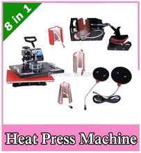 Combo heat transfer equipment 8 in 1 for mug cap plate T shirt printing machine DX801