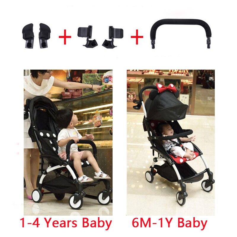 Baby Stroller Armrest Bumper Bar Armrest Accessories Yoya Yoyo Babyyoya Install Bumper Joint Adapte Stroller Accessories