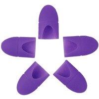 5pcs Set UV Gel Soak Off Polish Remover Rubber Clip Cap Reusable Nail Gel Remover Keeper
