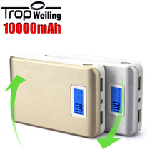 LCD mobile power bank 10000mah mobile charger poverbank portable phone battery charger for All phones