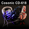 Original marca cosonic cd-618 gaming auriculares de 3.5mm usb gaming headset con micrófono de cancelación de ruido t para pc gamer