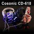 Original marca cosonic cd-618 gaming usb fone de ouvido de 3.5mm fone de ouvido gaming headset com microfone com cancelamento de ruído t para pc gamer