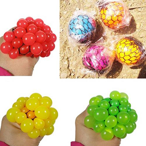 Novelty Hand Wrist Exercise Squeezing Toys Stress Relief Squeeze Ball Grape Shape