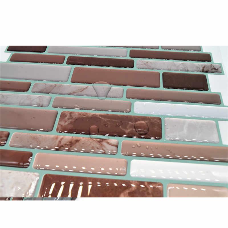 6 cái/lốc 25.4x25.4 cm 3D Gạch Mosaic Sticker Dầu chống Thấm bằng chứng Tự Dính TỰ LÀM Tường Trang Trí Nội Thất Decal Cho phòng tắm Nhà Bếp Bức Tranh Tường