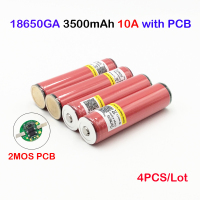 ncr18650ga 3500mah for ncr18650ga 4pcs in a lot 18650 Battery protected 3.6V 10A Flat Top Rechargeable Batteries ja11