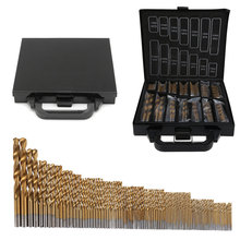 цены 99PCS HSS Twist Drill Bit Set 1.5-10mm Titanium Coated Surface 118 Degree For Drilling Metal DIY Home Use With Box / OPP Packing