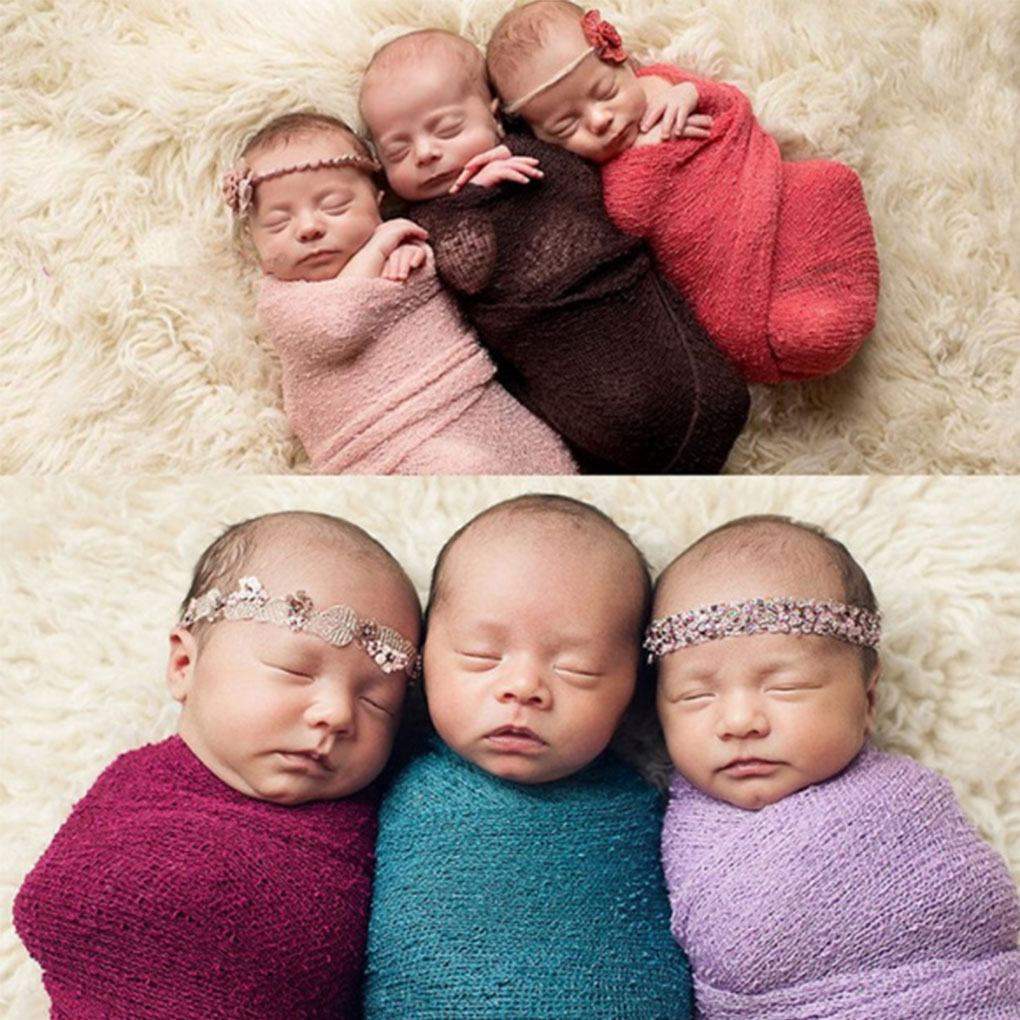 Mother & Kids Baby Photography Props Blanket Wraps Cotton Soft Newborn Photo Wraps Hammock