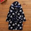 Vestes novo inverno primavera outono roupas das meninas dos meninos das crianças dos desenhos animados do bebê roupão de banho Pijamas & Robe Rosa azul da forma do coração estrelas