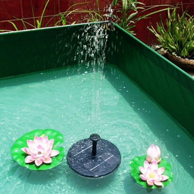 Buy Solar Pumping System Pv Solar Floating Fountain Home Swimming Pool Fish