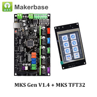 3D Printer Controller Board MKS Gen V1.4 + MKS TFT32 V4.0 Compatible with Ramps1.4/Mega2560 R3 Support A4988/DRV8825/TMC2100
