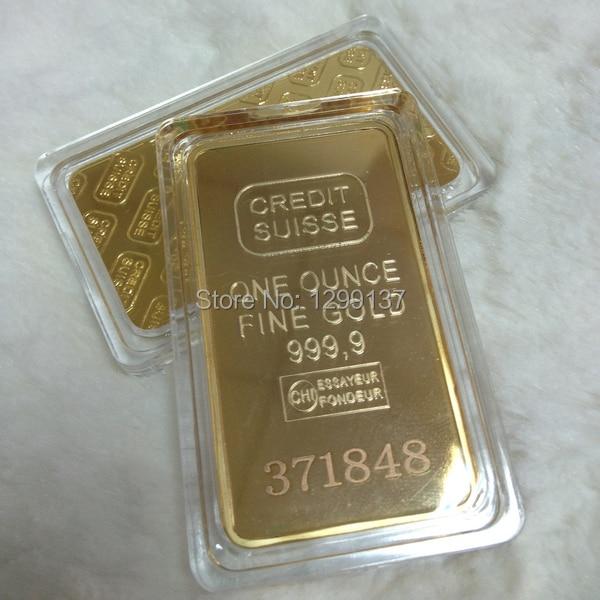 Sample Order Laser Numer Credit Suisse Gold Bar 1oz 24k