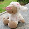 НИКИ 25 см Розовый Цветок Овец Чучела Плюшевые Игрушки, Baby Дети Кукла Подарков Бесплатная Доставка