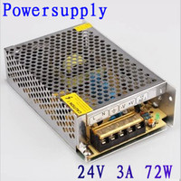 DC 24V 3A 72W LED Driver Switching Power Supply Transformer Adapter For LED Strip Light