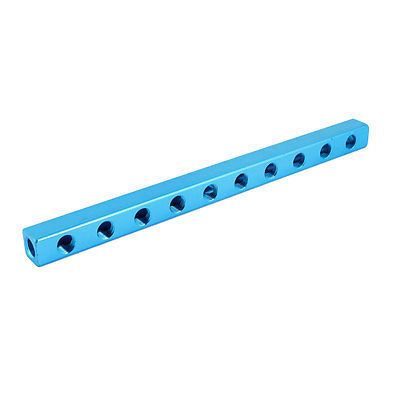 Blue Aluminium Air Pneumatic 10 Way 13 Ports Manifold Block Splitter 1/4PT Free shipping air compressor 1 2bsp 2 way hose pipe inline manifold block splitter teal blue