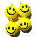 Fashion PU Smile Face Ball Design  Keychain Key Ring gift Keyring Holder Finder Key-ring Free Shipping