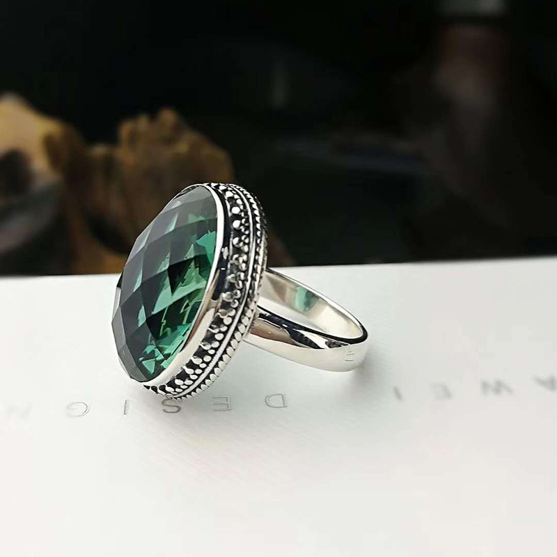 Genuine Solid 925 Sterling Silver Jewelry Big Emerald Ring Party Rings For Women Natural Crystal Fine Jewelry BijouxGenuine Solid 925 Sterling Silver Jewelry Big Emerald Ring Party Rings For Women Natural Crystal Fine Jewelry Bijoux