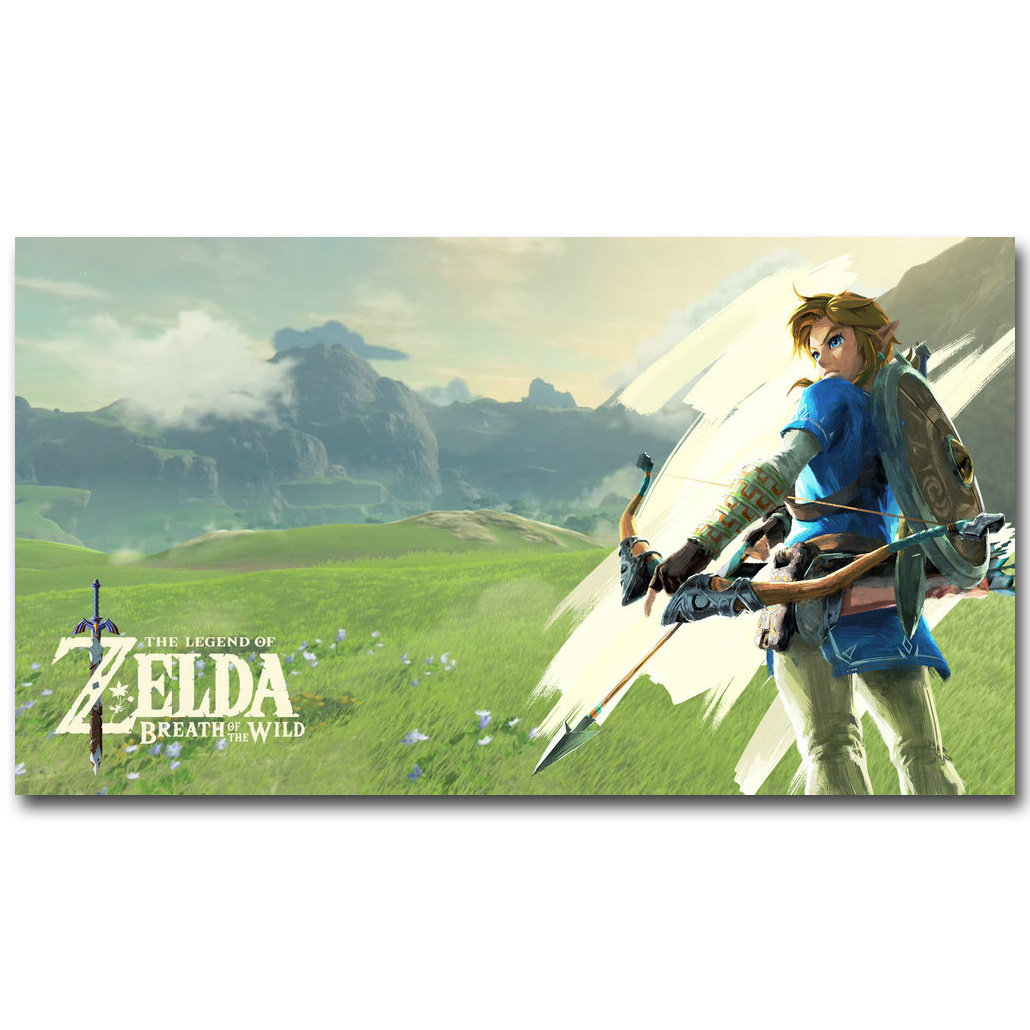 Legend of Zelda Breath of The Wild Art Pëlhura mëndafshi të Artit - Dekor në shtëpi - Foto 1