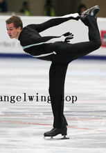 Men Figure Skating Dresses Boys Ice Skating Dress For Competition Custom Figure Skating Suit with Trousers Free Shipping