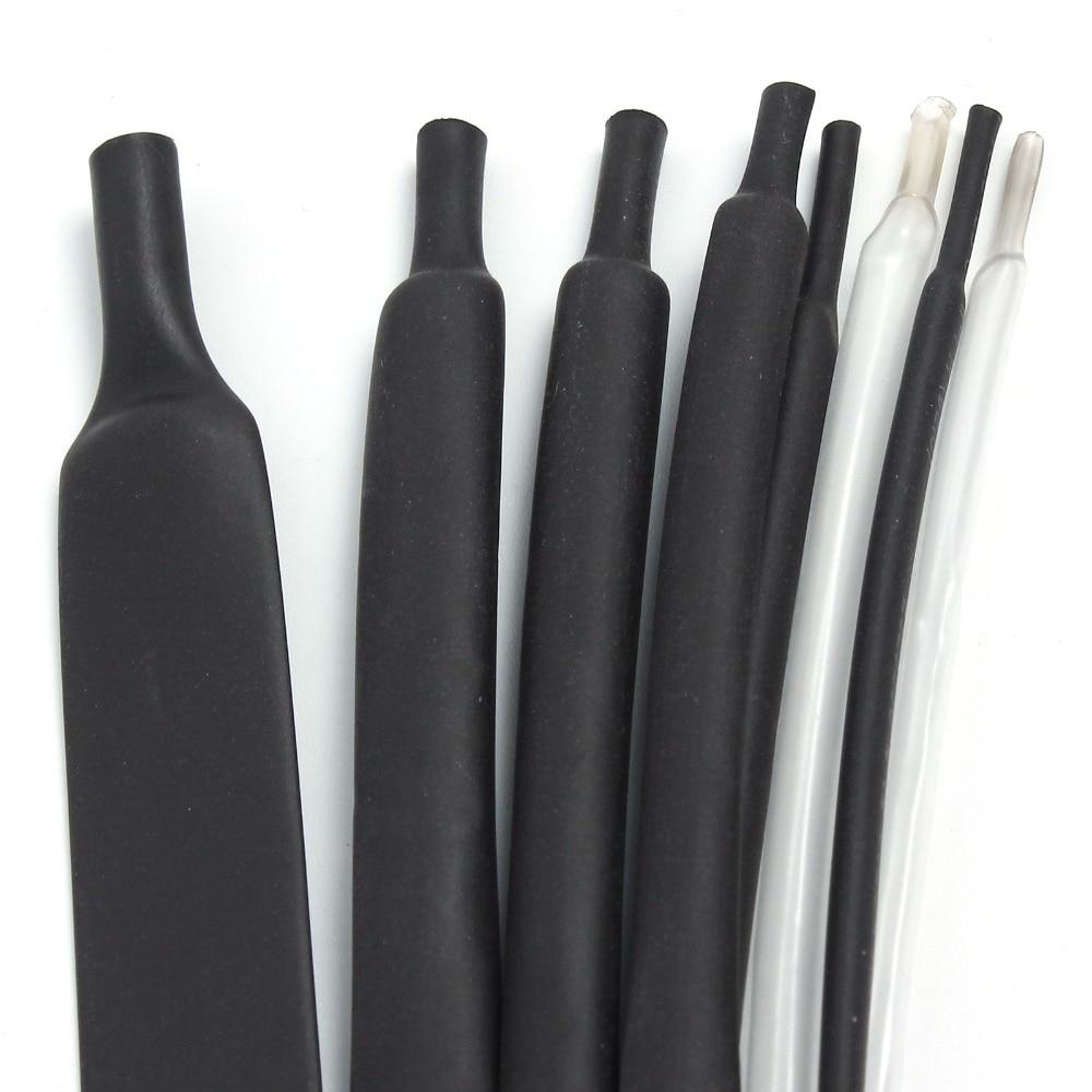 1mm 1 mètre 8 Types/Types de Tubes thermorétractables paquet Tubes thermorétractables 2-8 composants noir blanc