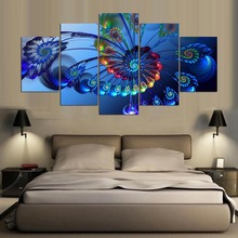 Limited Hot Sale Unframed Irregular Peacock Feather Modern Canvas Painting Animal Wall Art Modular Pictures Posters